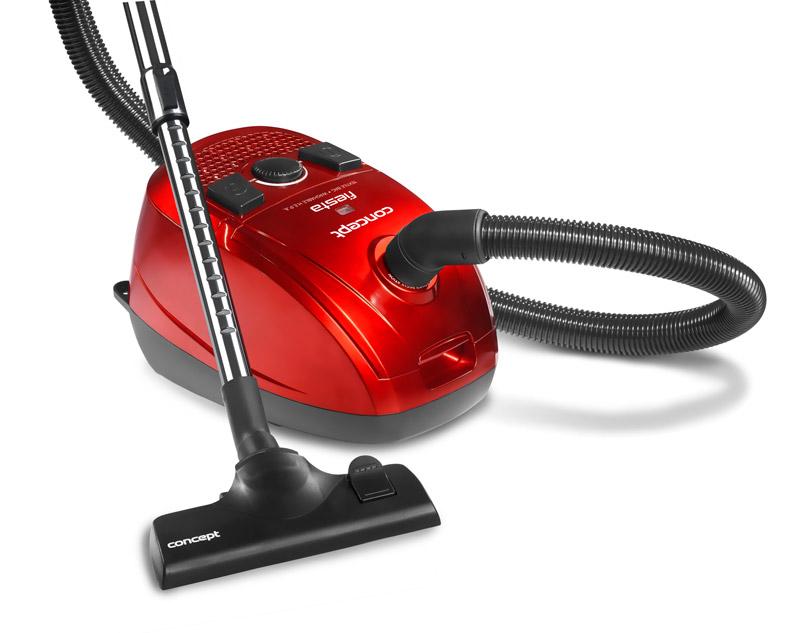 sáčkový vysavač Concept FIESTA - červený (VP 8020)