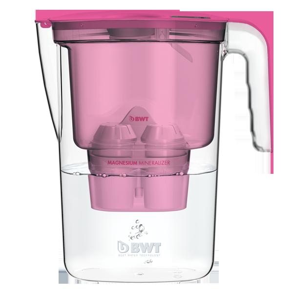 filtrační konvice BWT VIDA 2,6l - růžová + 3x filtr Mg2+ (BWT VIDA růžová)