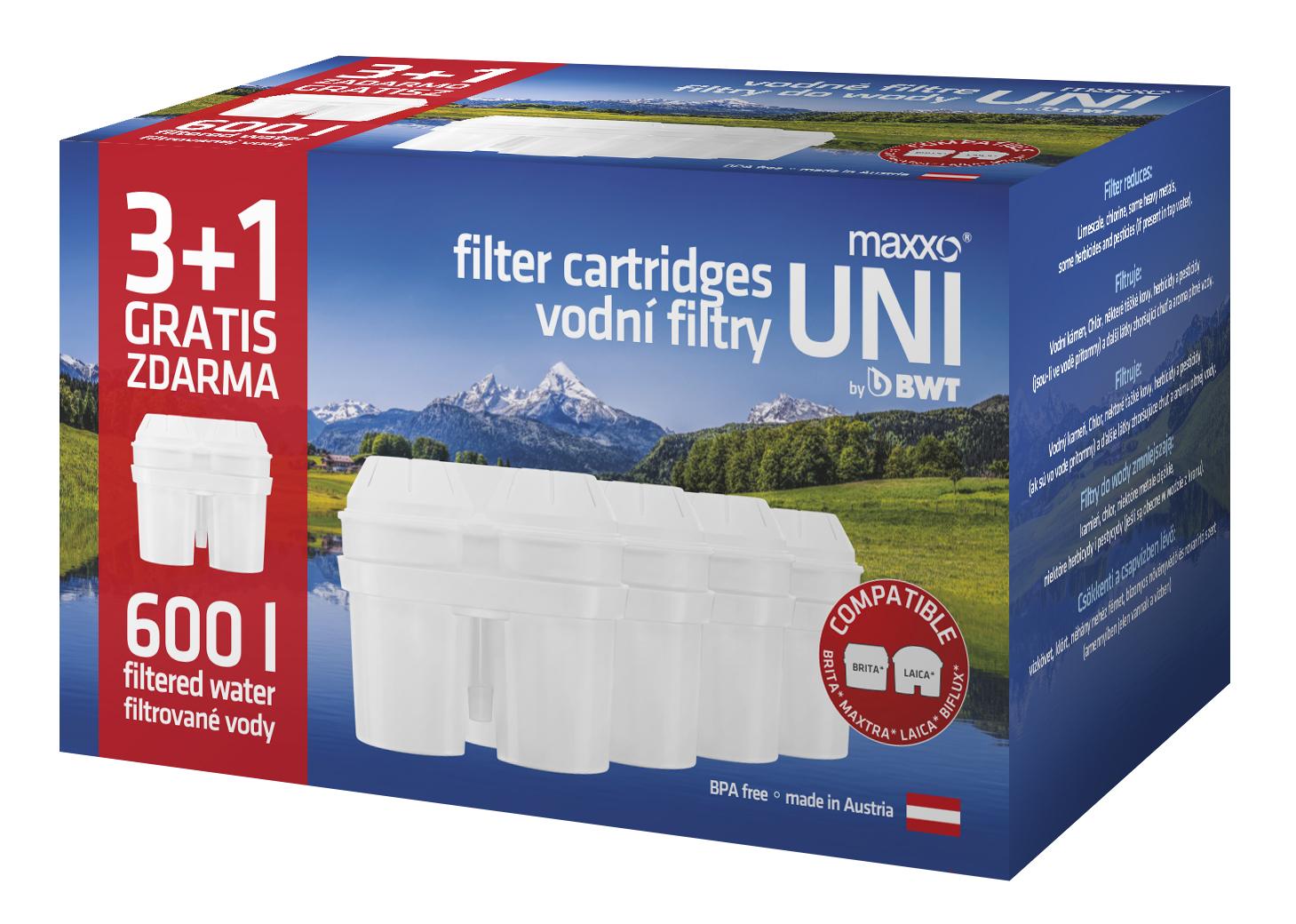 filtry do konvice MAXXO UNI 3+1 (MAXXO 3+1)